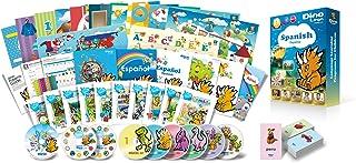 子供のスペイン語学習プレミアムセット/DVD、本、絵本、フラッシュカード、歌のCD、アルファベット練習帳など教材のフルセット/聞く・話す・読む・書くの基本をマスター。Dino Lingo