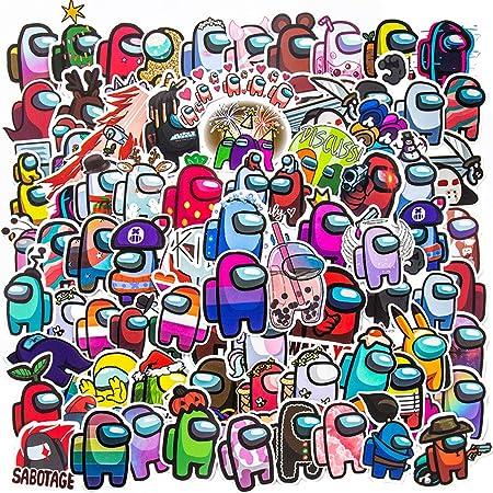 MZSM 100 Vinilo Pegatinas de Among Us Sticker, Graffiti Stickers con Dibujos Animados para Movil Botellas de Agua Coche Moto Pared Bicicleta Ordenador Equipaje No Duplicate Sticker