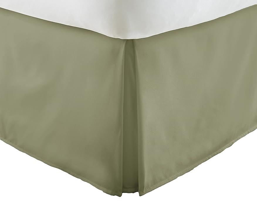 人種広告主添加ienjoy Home プレミアムプリーツダストフリルベッドスカート フル グリーン IEH-BEDSKIRT-FULL-SAGE