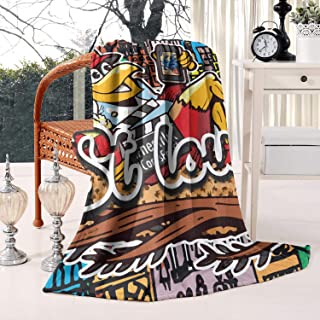 Unicorns Farting Thick Reversible Blanket Lightweight Cozy Couch Warm Throw Blanket Flannel Fleece Blanket, 59 X 79 Inch
