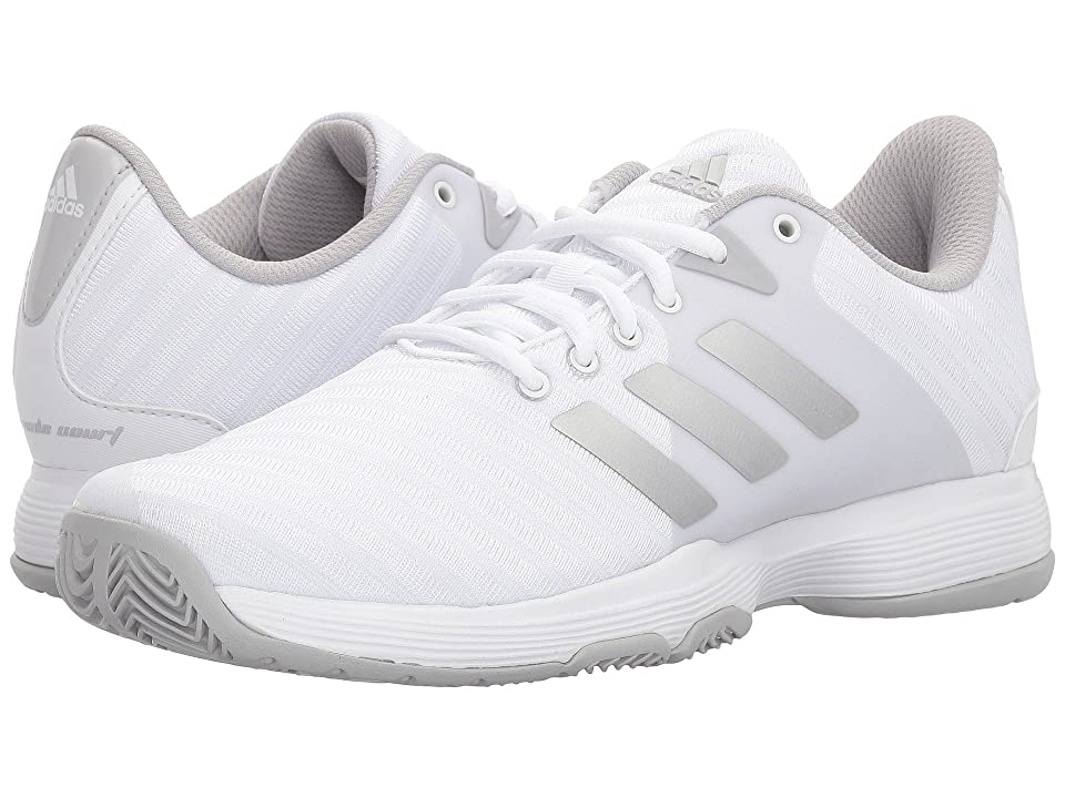 adidas Barricade Court (White/Silver/Grey Two) Women