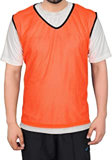GSI Mesh Sports Training Bibs/Pinnies/Scrimmage/Vests for Soccer, Basketball, Football, Volleyball and Other Team Games (P...