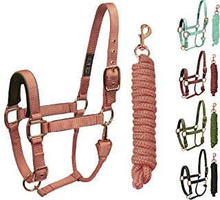 Derby Originals Desert Rose Collection Reflective Stable Halter with Matching Poly Lead Rope