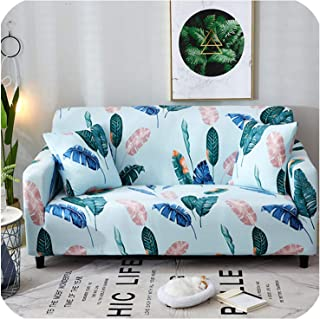 Flamingo Sofa Cover Plants Cartoon One Piece Green Slipcover Summer for Children Room Living Room,7,Single-Seater