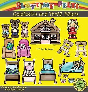 Playtime Felts Goldilocks and Three Bears Felt Figures for Felt Playboards 16 Piece Set