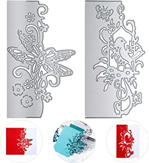 2 Piece Metal Cutting Die, Lace Bird and Butterfly Cutting Die Stencil DIY Scrapbooking Embossing Tool DIY Paper Card Album Decoration Paper Photo Craft for Card DIY Invitation Making Mould Template