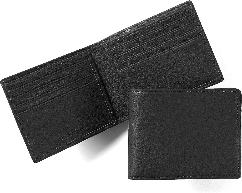 Leatherology Black Onyx Men's Bifold Wallet - RFID Available