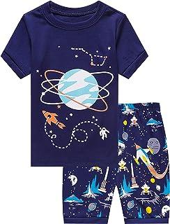 Family Feeling Shark Little Boys Shorts Set Pajamas 100% Cotton Clothes Toddler Kid