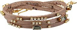 Chan Luu - Triple Wrap Leather Bracelet with Crystals