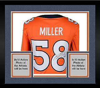 Framed Von Miller Denver Broncos Autographed Nike Orange Limited Jersey - Fanatics Authentic Certified