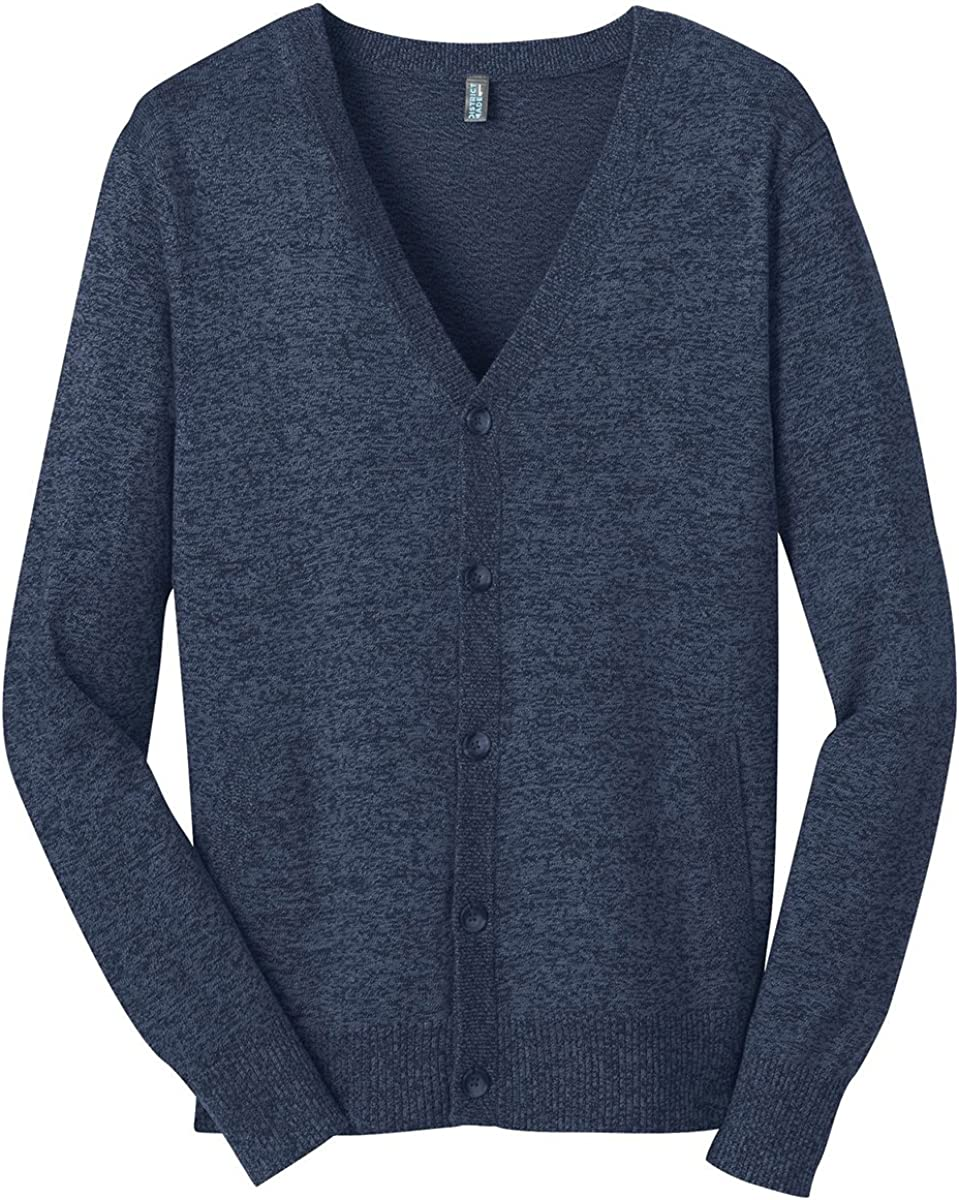District Made Men's Two-Toned Cardigan Sweater