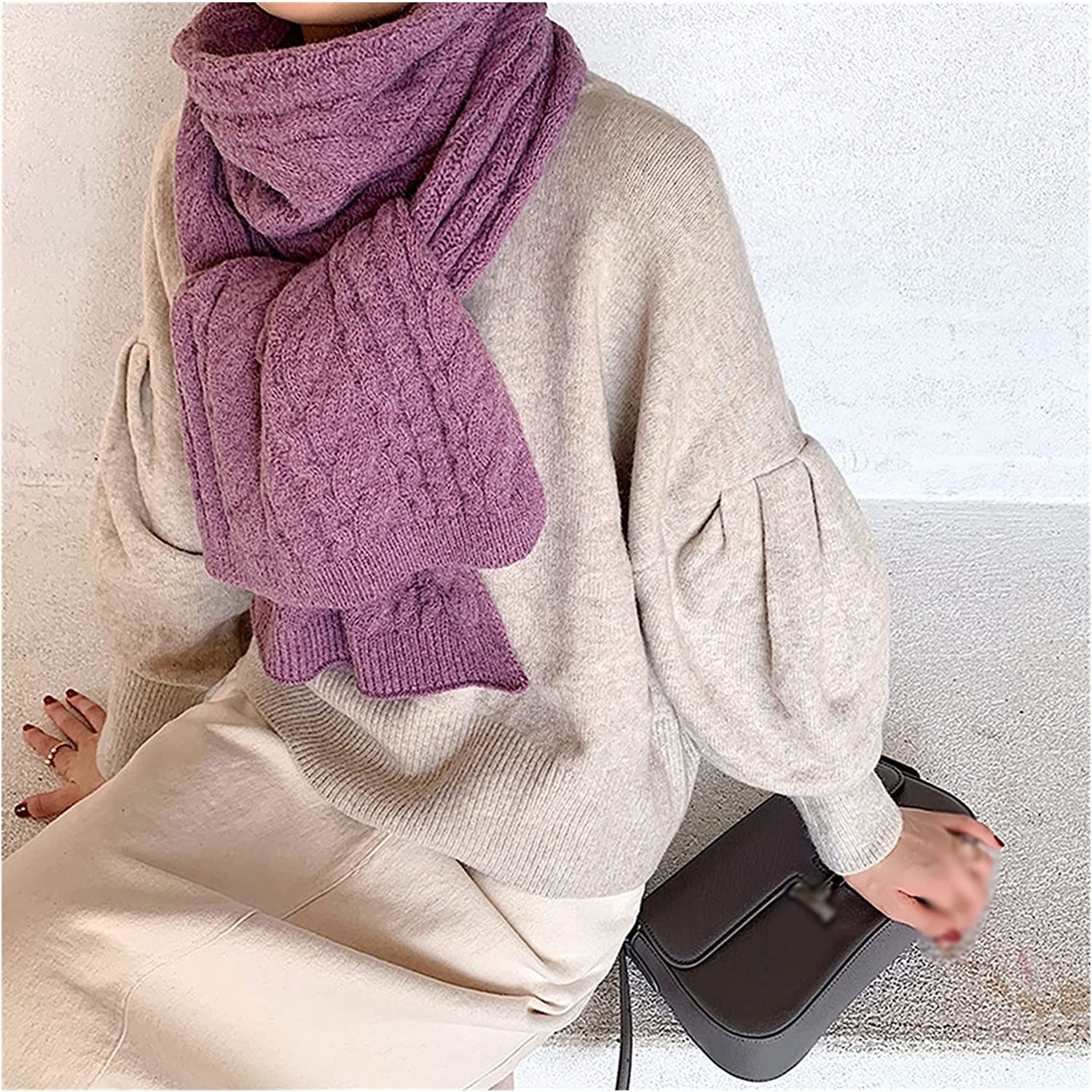 GYZCZX Female Autumn Winter Solid Womenknit Selling Jacksonville Mall Scarf War Wool Color