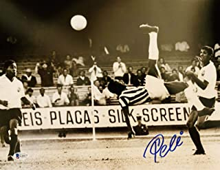 Pele Signed Photo - 11x14 Bike Kick Beckett BAS COA - Beckett Authentication - Autographed Soccer Photos
