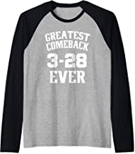 Greatest Comeback Ever (3-28) - product for New England Fans Raglan Baseball Tee