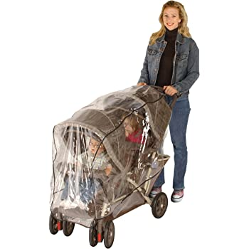 Jeep Double Stroller Rain Cover, Tandem Stroller Rain Cover, Baby Rain Cover, Double Stroller Accessories, Tandem Stroller Weather Shield, Universal Size, Waterproof, Windproof
