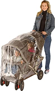 J is for Jeep Tandem Stroller Weather Shield, Baby Rain Cover, Universal Size, Waterproof, Water Resistant, Windproof, See Thru, Ventilation, Clear, Plastic, Protection, Shade, Umbrella, Pram, Vinyl, Double