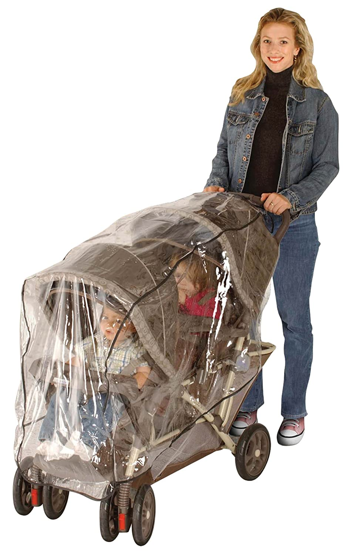 Jeep Double Stroller Rain Cover, Tandem Stroller Rain Cover, Baby Rain Cover, Double Stroller Accessories, Tandem Stroller Weather Shield, Universal Size, Waterproof, Windproof