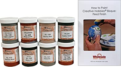 Mayco ELKIT-2 Elements Glaze Kit for Ceramics - Set of 8 Best Selling Colors in 4 Ounce Jars with Free How to Paint Ceramics Booklet