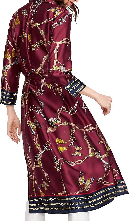 Zara Mujer Vestido Camisa con Estampado Cadenas 8127/147 S ...