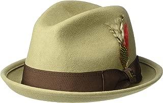 Men's Gain Short Brim Felt Fedora Hat