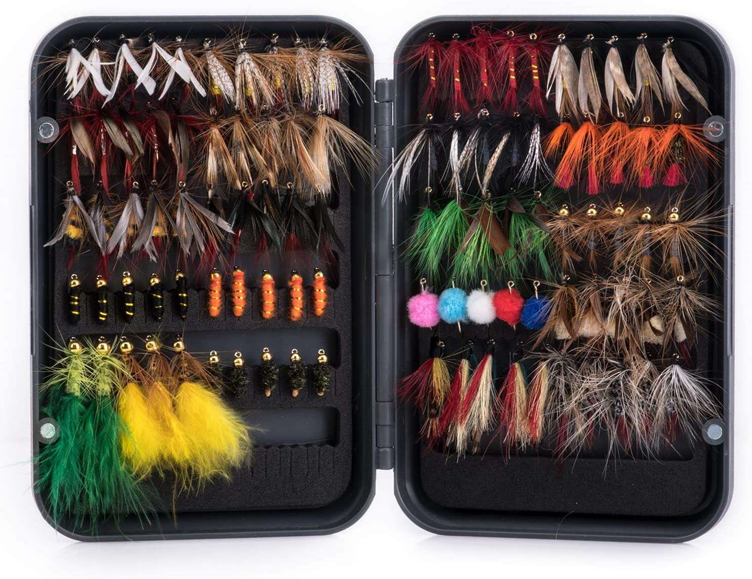 Goture Max 64% OFF Fly Fishing Flies Kit Lures wi 76pcs Reservation - 100pcs