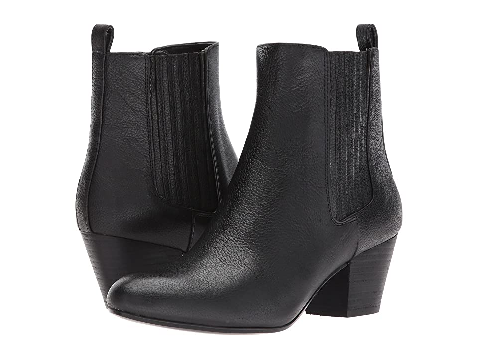 Nine West Haldi Bootie (Black Leather) Women