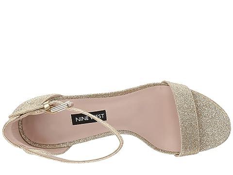 Nine West Dempsey Platform Heel Sandal Black Multi Leather