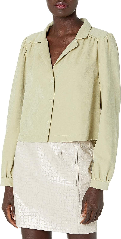 KENDALL + KYLIE Women's Button Up Crop Blouse