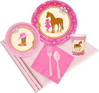 BirthdayExpress Western Cowgirl Party Supplies - Party Pack for 16 Guests