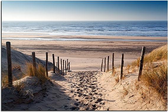 Canvas Wandbild Leinwand Bilder 100x50 Stürmischer Strand Meer landschaft