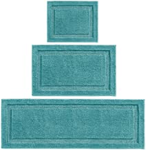 mDesign Soft Microfiber Polyester Spa Rugs for Bathroom Vanity, Tub/Shower - Water Absorbent, Machine Washable - Includes ...