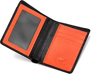 3070a4eaf3a98f Portafoglio Uomo Sottile con Protezione RFID - Portafogli In Vera Pelle - 8 Porta  Carte Credito