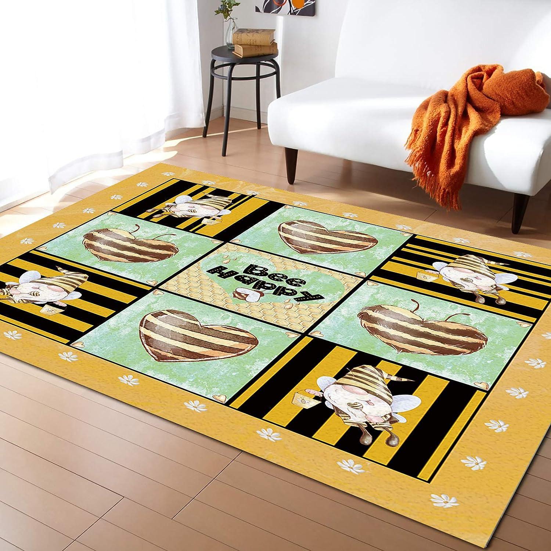 IDOWMAT Rectangular Soft Mail order Area Rug Home New popularity Floor Non-Slip Decor