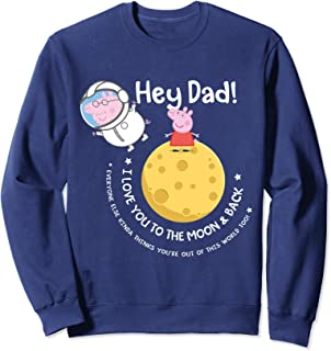 Peppa Pig Moon & Back Father's Day Sweatshirt
