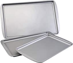 Farberware Nonstick Bakeware 3-Piece Cookie Pan Set, Gray - 52019