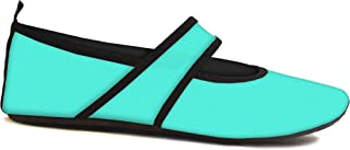 Futsoles by Nufoot Women's Soft-Sided Shoes for Indoors/Outdoors, Foldable & Flexible Footwear for Sport, Exercise, Yoga or Travel, Dance Shoes