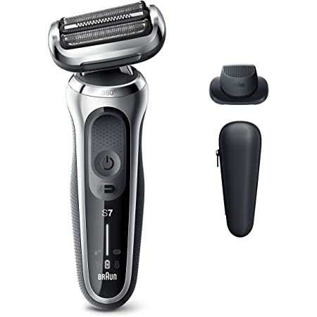 Braun Electric Razor for Men, Series 7 7020s 360 Flex Head Electric Foil Shaver with Precision Beard Trimmer, Rechargeable, Wet & Dry and Travel Case