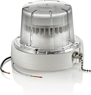 Leviton 9852-LED LED Ceiling Lamp Holder with Pull Chain, 10W Bulb and Bulb Guard