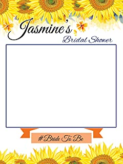 Custom Sunflower Bridal Shower Photo Booth Frame - Sizes 36x24, 48x36; Sunflower theme wedding, Bridal Shower Photo booth frame, Selfie Frame, Handmade Party Supply Photo Booth Props; Party Decor