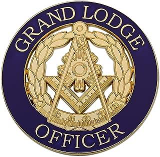Grand Lodge Officer Masonic Round Purple Auto Emblem - 3