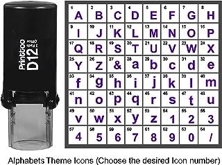 طابع شخصي برنتتو بطابع حروف الأبجدية مع ختم مطاطي ذاتي الحبر 12 مم بنفسجي