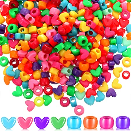 Limited Edition Multicolor Darice 1100 Piece Pony Heart Shape Bead