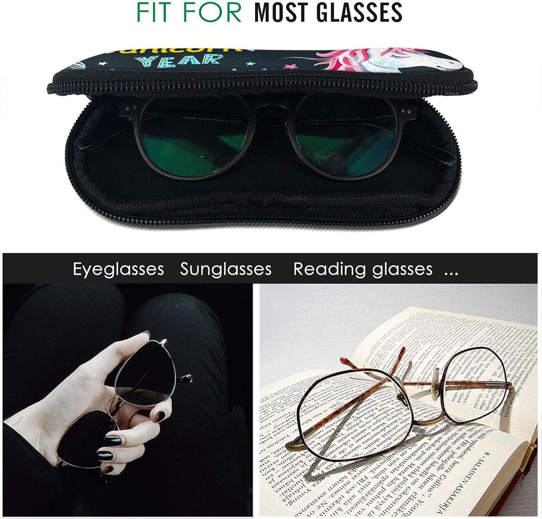 Christmas Style Unicorn Eyeglasses Soft Case