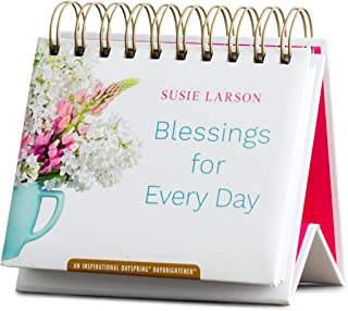 DaySpring Flip Calendar - Susie Larson - Blessings for Every Day, White - 49911