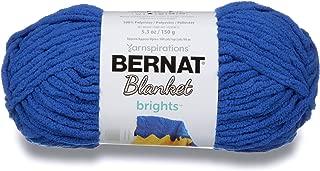 Bernat Blanket Brights Yarn, 5.3 oz, Gauge 6 Super Bulky Chunky, Royal Blue