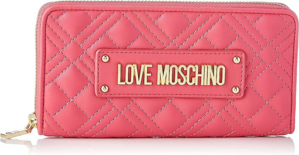 Love moschino precollezione ss21 portafoglio porta carte di credito da donna in pelle sintetica AS21MO12A