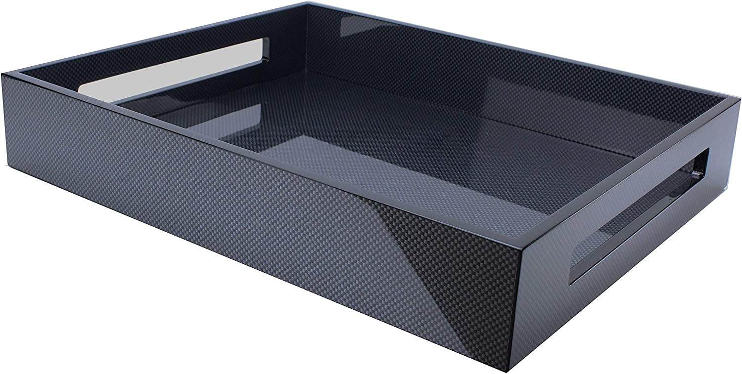 Addison Direct store Ross 16x14 Lacquered Carbon Tray Fibre Surprise price