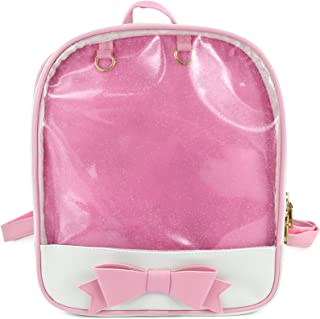 00dedf03412a SteamedBun Ita Bag Candy PU Leather Backpack Bowknot Kawaii Window Girls  School Bag