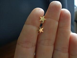 STELLA IN ACCIAIO INOSSIDABILE ORO INOX delicato, orecchini in oro, anallergici, orecchini a bottone, oro