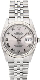 Rolex Datejust Mechanical (Automatic) Rhodium Dial Mens Watch 16234 (Certified Pre-Owned)